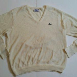 Vintage IZOD LACOSTE V-Neck Pullover Sweater Sz M
